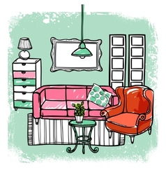 Furniture Sketch vector image vector image