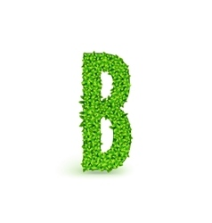Green Leaves font B vector image vector image