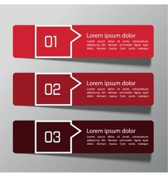 Modern design template from paper vector image