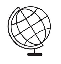 terrestrial globe icon on white background vector image