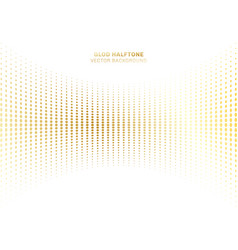 Abstract curve gold dots pattern halftone vector