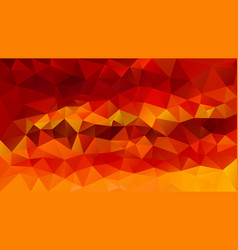 Abstract irregular polygon background sunset red vector