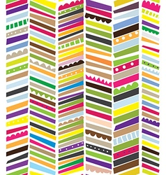 Abstract seamless textile pattern with stripes vector