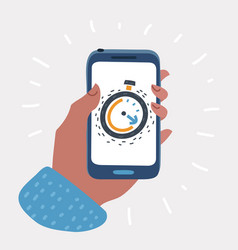 app alarm clock on the screen vector image