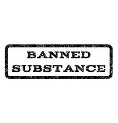 Banned substance watermark stamp vector