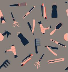 Barber shop seamless pattern vector