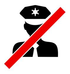 Blacklisted policeman - icon vector