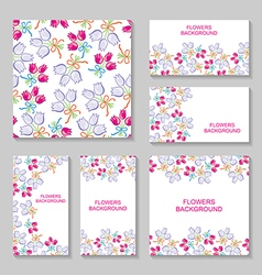 bouquets backg set vector image