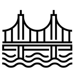 Bridge line vector