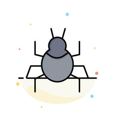 Bug nature virus indian abstract flat color icon vector