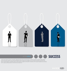 Business concept tags design vector