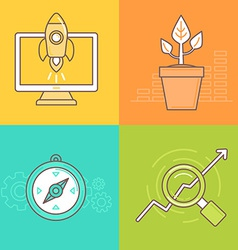 Business concepts in trendy linear style vector