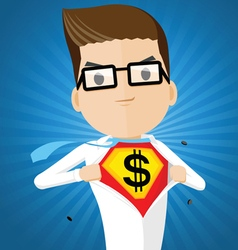 businessman super hero vector image