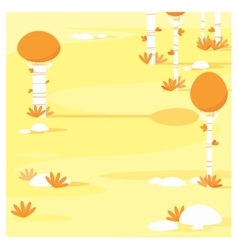 Cartoon landscape yellow forest vector