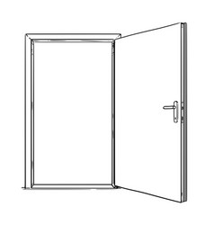 cartoon of open modern door vector image