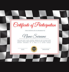 certificate participation diploma template vector image