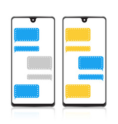 Chat bubble text message typing icon vector