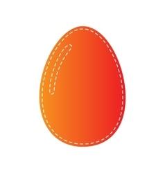 Chiken egg sign orange applique isolated vector