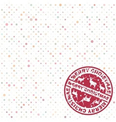 Christmas stamp dots copyspace vector image