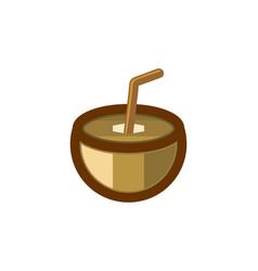 Coconut and straws logo modern design inspiration vector