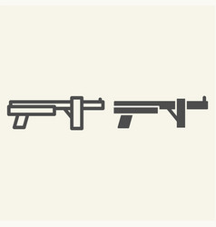 combat shotgun line and glyph icon weapon vector image