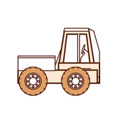 Construction truck icon vector
