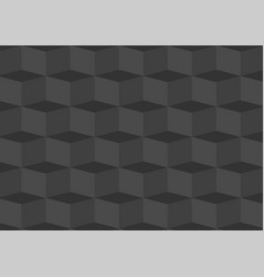 deep grey three dimentional geometric background vector image