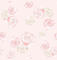 delicate roses flowers vector image