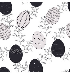 easter decorative eggs pattern vector image