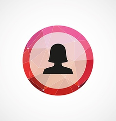 Female profile circle pink triangle background vector