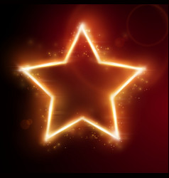 fiery star frame vector image