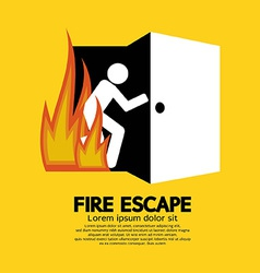 Fire Escape Graphic Sign vector image