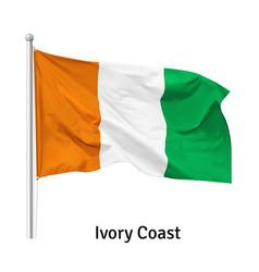 Flag republic ivory coast vector