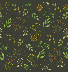 floral pattern color seamless vector image