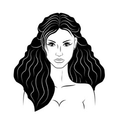 girl 17 vector image