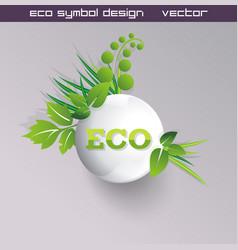 Green concept eco ball with grass vector