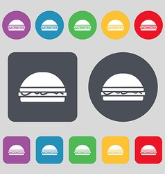 Hamburger icon sign A set of 12 colored buttons vector image