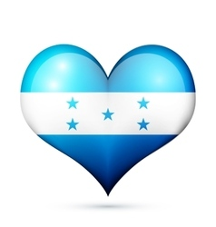 Honduras Heart flag icon vector image