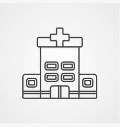 hospital icon sign symbol vector image