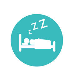 Human asleep silhouette icon vector
