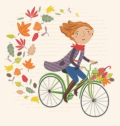 i love autumn vector image