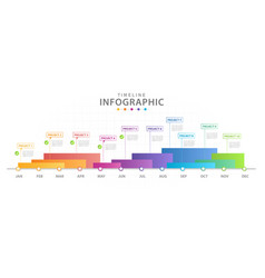 infographic template for business modern timeline vector image