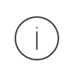information icon line help symbol vector image