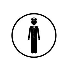 Isolated pictogram pilot design vector