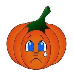 Kawaii pumpkin Cute cartoon vector