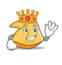 King fortune cookie mascot cartoon vector