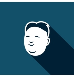 Korean mens head icon vector image