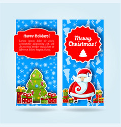 light blue holiday banner set vector image