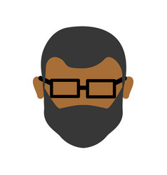 Man head and face with glasses vector