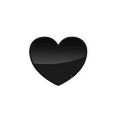 minimalistic black heart icon template image vector image